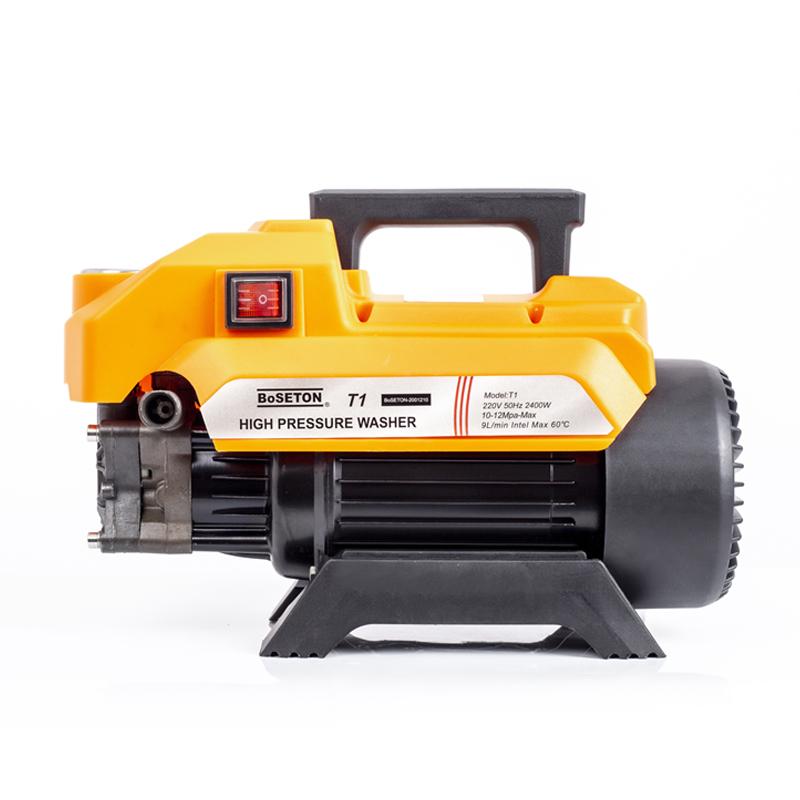Máy rửa xe gia đình, may rua xe công suất mạnh 2400W BoSETON T1, lõi đồng  nguyên chất 100%, may rua xe mi ni, máy rửa xe áp lực cao, máy xịt